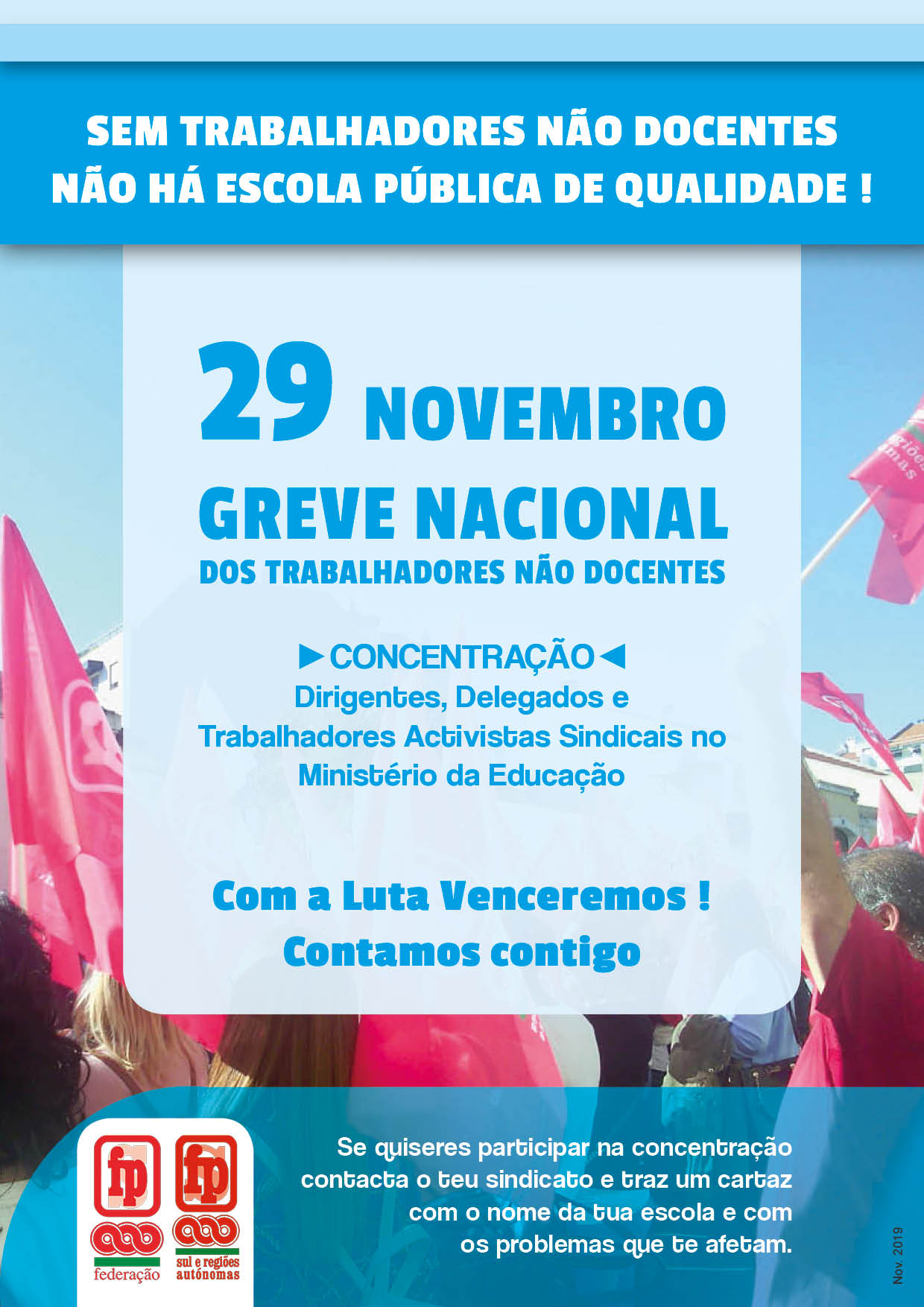 comunicado 29Nov NaoDocentesRedePublica